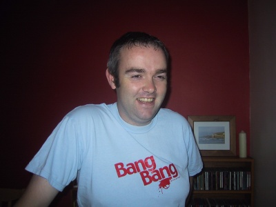 Picture of me in my light blue Bang Bang records t-shirt