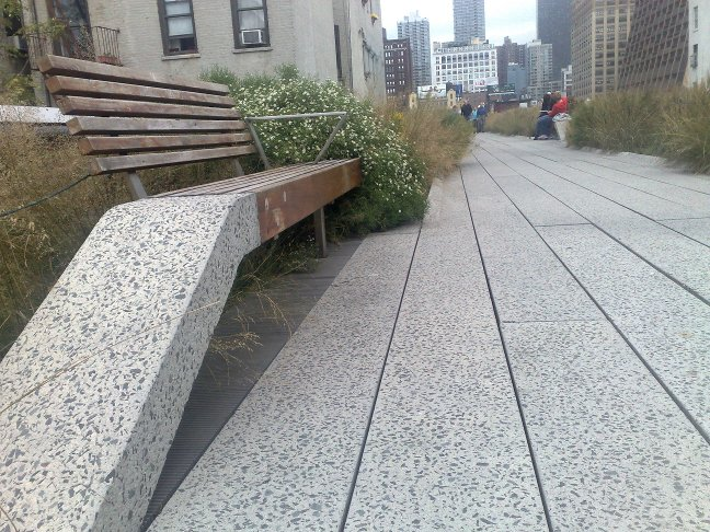 A view along the High Line