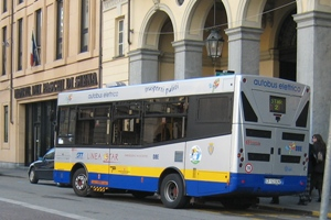 Picture of one of the electric buses in operation in Torino