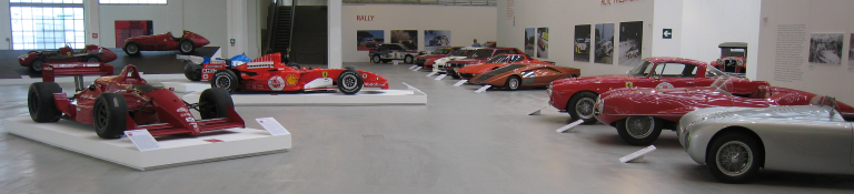 Panorama of cars from the Trilogia dell'Automobile