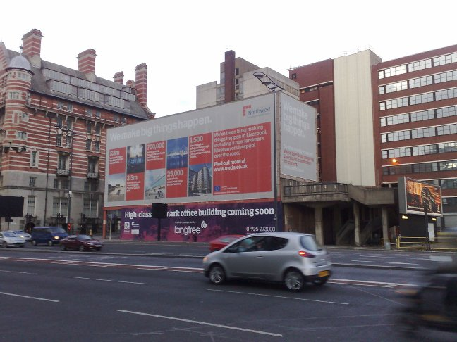NWDA poster on the Strand, 'We Make Big Things Happen'